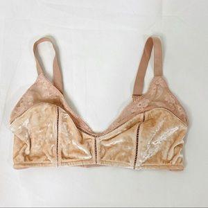 Victorias Secret bra bralette blush lace velvet XL
